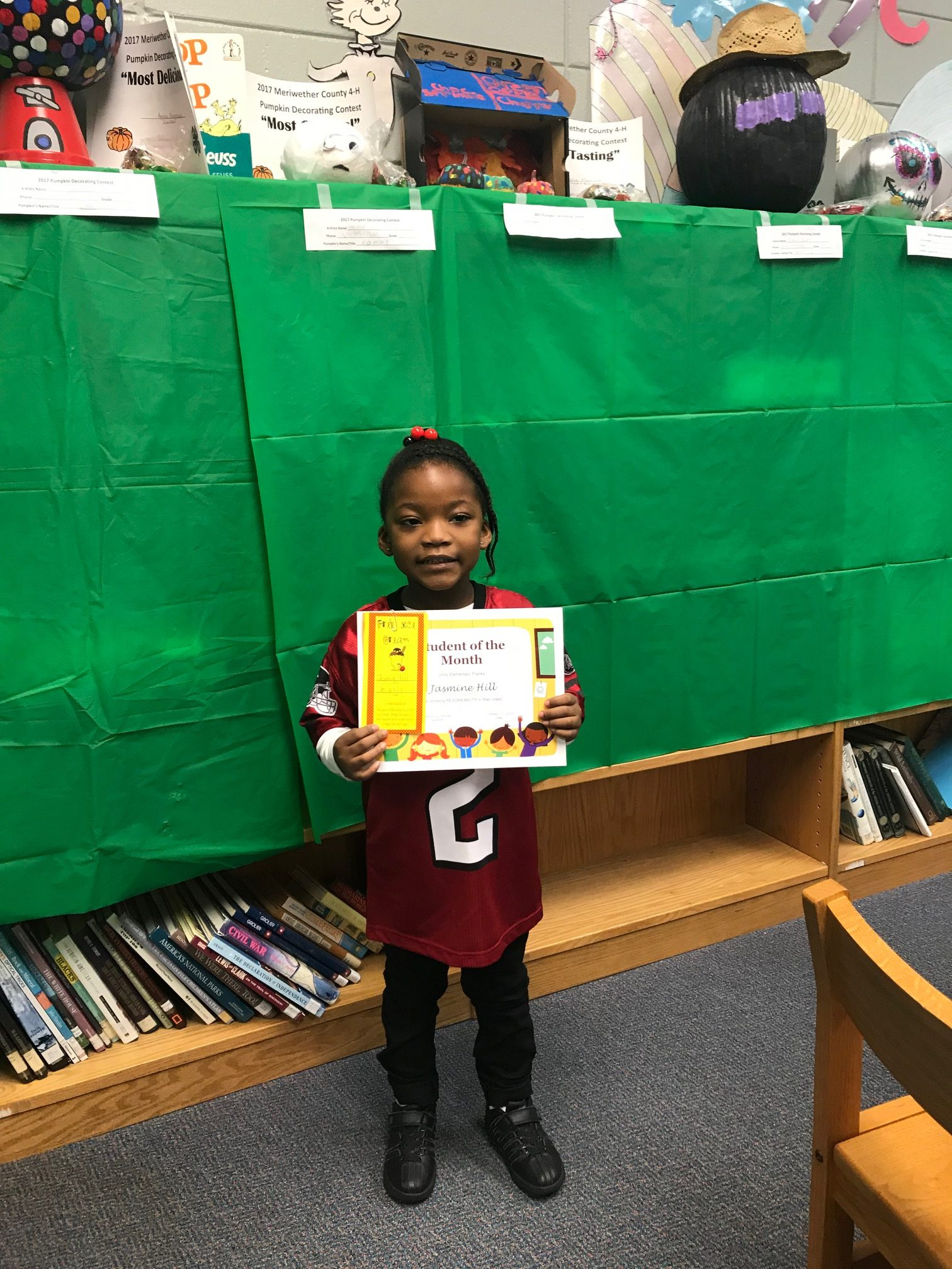 UES Students of the Month for October, 2017