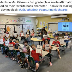 Character Based Affirmations in Gibson's 3rd Grade