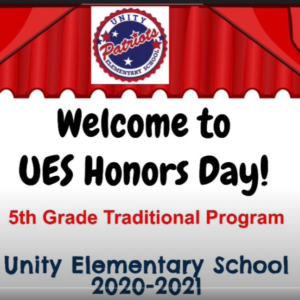 UES 5th Grade Traditional Honors Day Program 2021